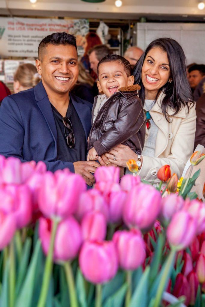 The De Sousa family enjoying the Market.